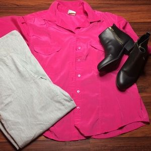 Tops - Pink Button Up Blouse G1